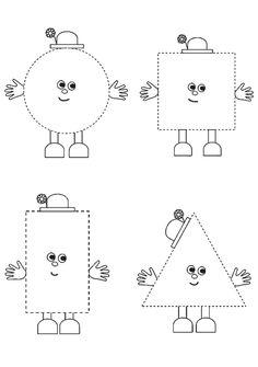 Shape Activities Kindergarten, Shape Worksheets For Preschool, Kindergarten Coloring Pages, Shapes Worksheets, Toddler Learning Activities, Preschool Learning, Math For Kids, Special Education Activities, Activities For Toddlers