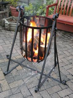 """fire basket......choose among many """"design packs"""" available on www.metalcraft-tools.com, www.metal-craft.co.uk"""