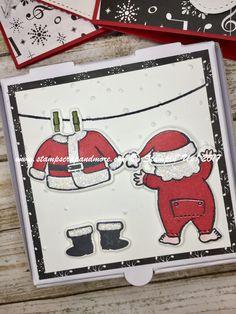Best Of Pizza Box Drawings , Santa S Suit Mini Pizza Box Gift Enclosure Cards, Best Of Pizza Box Drawings , Pizza Box Drawings Stampin Up Christmas, Christmas Cards, Christmas Stuff, Santa Suits, Small Cards, Christmas Gift Wrapping, Winter Cards, Craft Fairs, Homemade Cards
