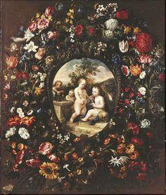 Juan de Arellano - Guirnalda con flores