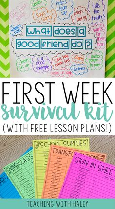 PURCHASE TPT bundle for 8 covers teaching procedures and activities for firstP… - Bildung Get To Know You Activities, First Day Of School Activities, 1st Day Of School, Beginning Of The School Year, Middle School, High School, Back To School Ideas For Teachers, Preschool First Week, September Activities