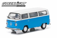 Greenlight Machines Auto World Hot Wheels more Whats New In Diecast : Greenlight Motor World Series 15 - 1977 Volks. Volkswagen Type 2, World Series, Tv Series, Diecast Model Cars, Whats New, Hot Wheels, Blue And White, Van, Vehicles
