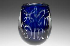"Vicke Lindstrand (Swedish, 1904-1983), Orrefors, ""Zodiac""  Ariel Glass Vase."