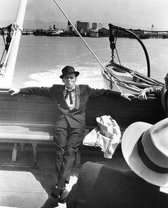 Frank Sinatra on the set of Pal Joey (1957)