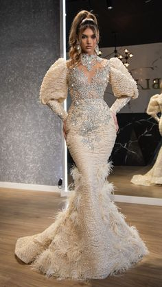 Glam Dresses, Party Wear Dresses, Event Dresses, Couture Dresses, Nice Dresses, Fashion Dresses, Long Sleeve Evening Dresses, Prom Dresses With Sleeves, Mermaid Prom Dresses