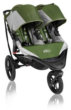 Baby Jogger Summit X3 Double Stroller, Green Baby Jogger