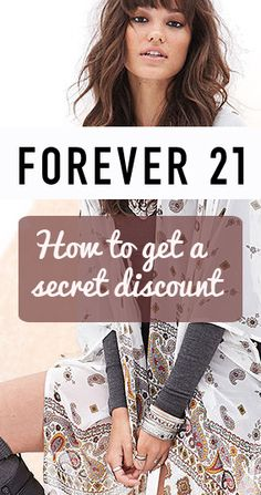 How to get a secret discount at Forever21. A MUST Pin