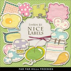 Freebies Babyish Style Labels:Far Far Hill - Free database of digital illustrations and papers Printable Labels, Printable Paper, Free Printables, Papel Scrapbook, Scrapbook Cards, Kids Photo Album, Digital Paper Freebie, Digital Scrapbooking, Digital Papers