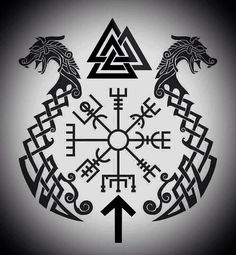 I'm a Norse Pagan who loves Viking culture and lifestyle. Trying to honor my ansestors best I can. Hail the Gods! Rune Viking, Viking Tattoo Symbol, Pagan Tattoo, Norse Runes, Norse Pagan, Norse Tattoo, Wiccan Tattoos, Inca Tattoo, Viking Symbols