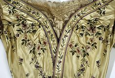 Silk evening gown (bodice detail), House of Worth (French, 1858–1956), ca. 1898.  The Metropolitan Museum of Art
