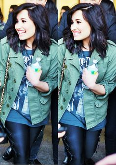 Love the hairstyle and outfit, go Demi!