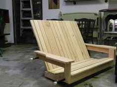 Custom made porch swing we made for client. $325 www.barkingdogstudio.ca