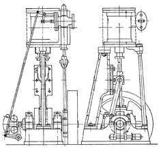 1876 philadelphia Exhibition Engine Steam Launch Diagram