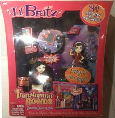 LIL' Bratz Transformin' Rooms Chill OUT Cafe Nighttime Disco NEW IN Mint BOX | eBay
