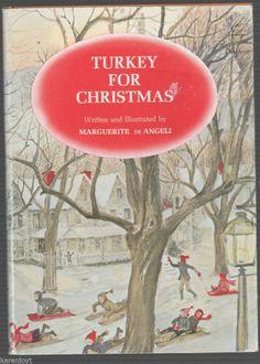 Turkey for Christmas MARGUERITE de ANGELI hcdj 1965 (original copyright 1944)