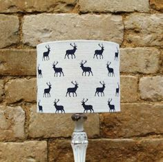 Hill House Design Plum Stags Lampshade, Hill House Design, Lampshade