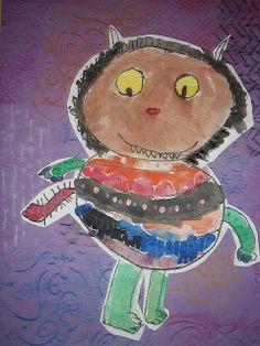 Happily Ever After.An Art Teacher's Fairy Teal: Wild Things Art Drawings For Kids, Kids Artwork, Artwork Pictures, Art Lessons For Kids, Art For Kids, Kid Art, Kindergarten Art, Preschool Art, Arts And Crafts Projects