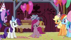 #1367246 - applejack, balloon, barn, fluttershy, mane six, party hat, party of one, pinkamena diane pie, pinkie pie, rainbow dash, rarity, sad, safe, screencap, twilight sparkle - Derpibooru - My Little Pony: Friendship is Magic Imageboard