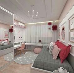 Teen Girl Bedrooms - incredibly super sweet teen girl room tips and tricks. Hungry for other inspiring teen room styling designs please visit the pin to study the post idea 2440572225 immediately Bedroom Decor For Teen Girls, Teenage Girl Bedrooms, Girl Bedroom Designs, Girl Rooms, Design Bedroom, Bedroom Ideas For Small Rooms For Teens For Girls, Bright Bedroom Ideas, Small Teenage Bedroom, Teen Bedroom Colors