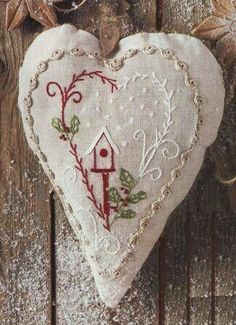 hand embroidery stitches for crazy quilts Cross Stitch Embroidery, Embroidery Patterns, Hand Embroidery, Eyebrow Embroidery, Embroidery Tattoo, Embroidery Services, Christmas Hearts, Felt Christmas Ornaments, Xmas