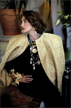 In memory of Loulou de la Falaise, died this weekend at the age of 63. Yves Saint Laurents closest muse.