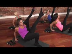 Barre Exercise: Get Toned Triceps - From The Ballet Physique DVD Collection: Amped Up. In this clip, the instructors perform tricep dips with a single leg extension to tone the back of the upper arms (and stretch the hamstrings!).