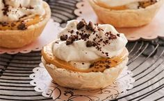 Banana toffee cream tartlets: One can of condensed milk, so many delicious options! These too-good tarts are at the top of the list - enjoy!