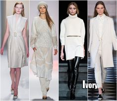 New York Fashion Week FAll 2013 Trends Ivory Trend Calvin Klein, BCBG, Tibi, Tommy Hilfiger