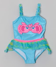 Another great find on #zulily! Blue Kissing Fish Skirted One-Piece - Infant & Toddler #zulilyfinds