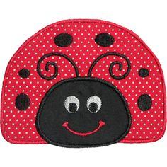 Happy Ladybug Applique Design