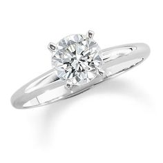 1-1/4 CT. Diamond Solitaire Engagement Ring in 14K White Gold
