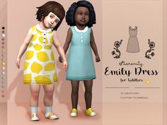 The Sims Resource: Emily Dress for Toddlers by serenity-cc • Sims 4 Downloads