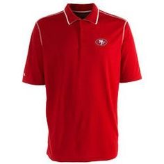 San Francisco 49ers NFL Fuel Men's Polo Shirt (Dark Red/White) (X Large)