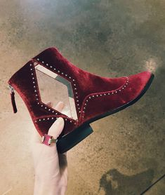 3cb8e60da4c If someone frosted these red-velvet boots, I would gladly eat them.  GimmeGimmeGimme