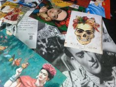 Frida everywhere. #FridaKhalo #Mexicanart #Recycledpaper
