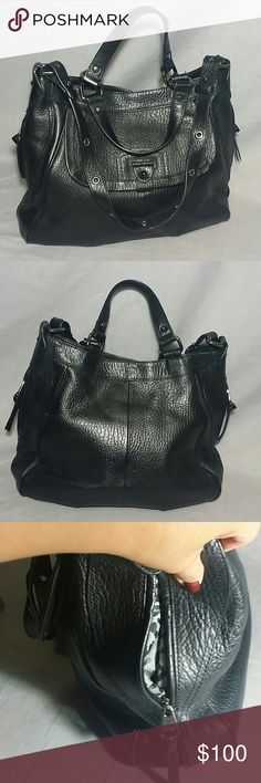 "Women's Perlina New York Purse Genuine leather Large item is in a good condition, NO PETS AND SMOKE FREE HOME measurements strap Drop 12.5"" Length 16.5"" height 13"" Perlina New York Bags Shoulder Bags"