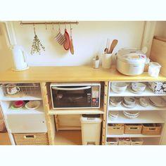 56 Trendy home diy ikea kitchen cabinets Kitchen Display Cabinet, Ikea Kitchen Cabinets, Kitchen Cabinet Organization, Home Organization, Studio Kitchen, Home Decor Kitchen, Kitchen Interior, Home Kitchens, Home Office Storage
