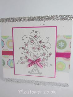 Rubber stamped Christmas card, I just love this stamp!