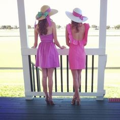Kentucky Derby Inspiration. Just once I want to wear a big hat like that!!