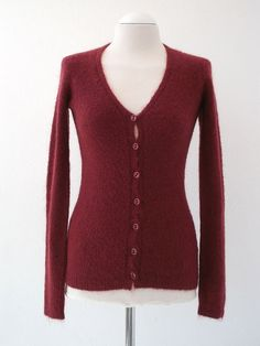 Burgundy  Mohair Cardigan by twyggi. Explore more products on http://twyggi.etsy.com
