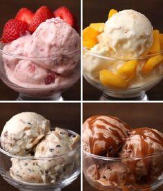 Transforme a sua casa em uma sorveteria, com Sorvete Fácil em 4 Sabores. Tem de Morango, Maracujá com Manga, Cocada e Chocolate com Doce de Leite. Faça tod