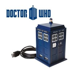 Hub usb docteur who tardis, gadget geek