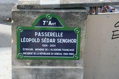 Pont de l'ancien Président Léopold Sédar Senghor à Paris