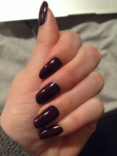 Loved when my nails were this dark purple colour