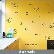 Atari wall decals. . I can imagine doing that to my walls. I loved Asteroids. . the game.