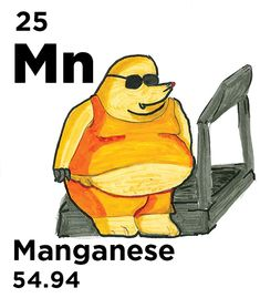 Mn - Most manganese is used in steel; Mn increases steel strength & durability, while Mn steel is used for high-strength purposes, such as railroad tracks & prison bars Chemical Bond, Atomic Number, Water Molecule, K 1, Photosynthesis, Railroad Tracks, Chemistry