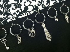Fifty Shades of Grey Wine Charms by ShopPrincessCharming on Etsy, $12.00
