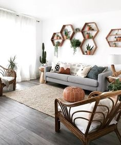 27 Dreaming About These 8 Living Room Wall Decor Ideas ~ Home Design Examples Living Pequeños, Boho Living Room, Cozy Living Rooms, Living Room Grey, Bohemian Living, Living Room Wall Ideas, Modern Living Room Decor, Modern Room, Kitchen Living
