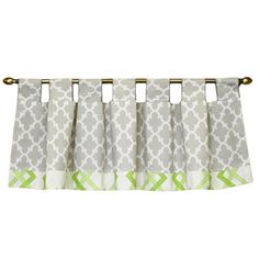 Tab style valance - a great window topper Window Toppers, Valance Curtains, Nursery, Windows, Modern, Green, Baby, Home Decor, Style