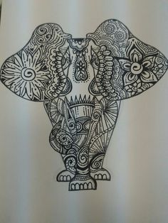 #elephant#draw#abstract#black&white